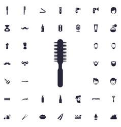 Hair brush icon vector