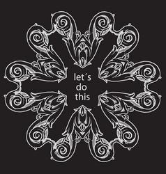 hand drawn vintage calligraphic decoration vector image