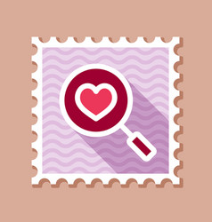 heart search stamp vector image