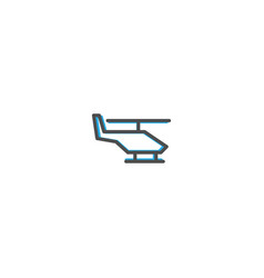 helicopter icon design transportation icon design vector image