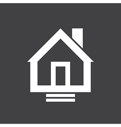 House Icon On Dark vector image
