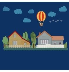 Houses - urban landscape vector image