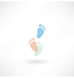 Human footprints icon vector