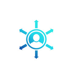 Influence icon on white vector