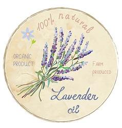 Lavender oil design label vector image