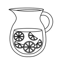 Lemonade pitcher icon vector