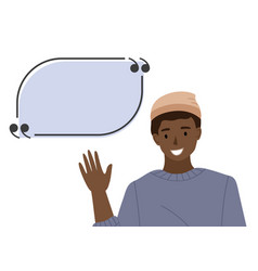 male character design a man with a speech bubble vector image