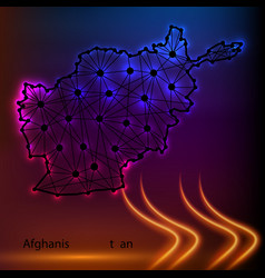 Map of the islamic republic of afghanistan with vector