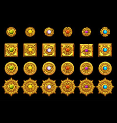 Maya icons american aztec mayan culture vector