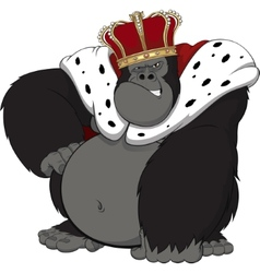 Monkey in the crown vector image