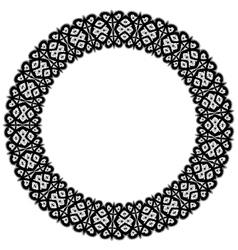 Openwork round frame vector