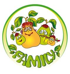 Pears family vector