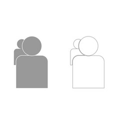 people or two avatar grey set icon vector image