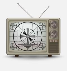 realistic old vintage tv vector image