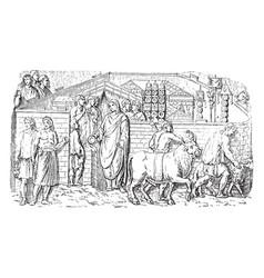 Relief of trajan column was originally surmounted vector