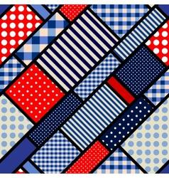 Retro blue pattern vector image
