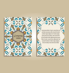 Set of colorful brochure templates vector