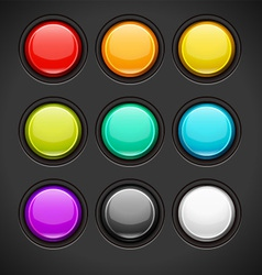 Set of Colorful Buttons vector