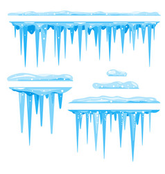 Set of icicles cluster vector