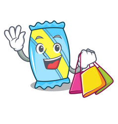 Shopping candy character cartoon style vector
