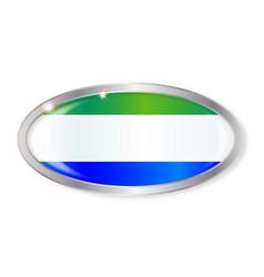 Sierra leone flag oval button vector