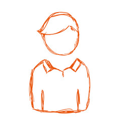 silhouette man with hairstyle and casual wear vector image