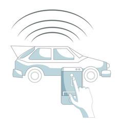 smartphone car control vector image