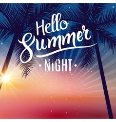 summer night dance party beach night party vector image