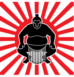 sumo sitting ready to fight vector image