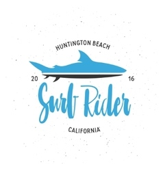 Surf rider t-shirt graphics Vintage style vector