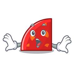 surprised quadrant mascot cartoon style vector image
