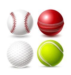 tennis cricket golf ball for betting promo vector image