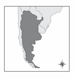 The map of argentina vector