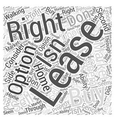 To Buy or To Lease Word Cloud Concept vector