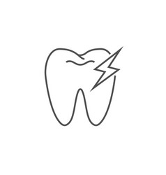 toothache line icon vector image