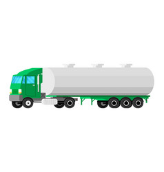 truck trailer isolated on white vector image