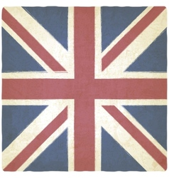 Union Jack old background vector image