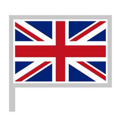 United kingdom flag on flagpole icon vector