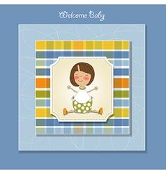 Welcome little girl vector
