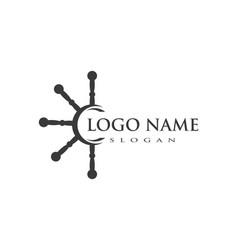 yacht logo template vector image
