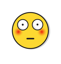 Yellow sad face shocked negative people emotion vector