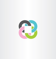 abstract business circles and square colorful logo vector image vector image