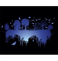 floating forest vector image