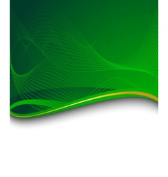 green banner with green wave vector image