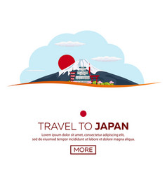 poster travel to japan mountain banner vector image