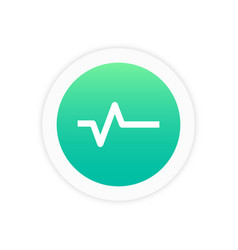 pulse icon sign vector image