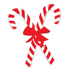 Red christmas candy canes vector image vector image
