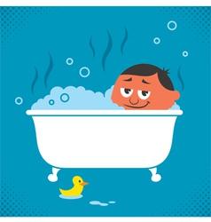 Bathtub Relaxation vector image vector image