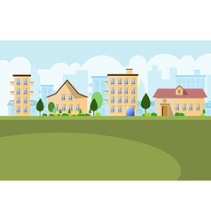 Buildings landscape background vector image vector image