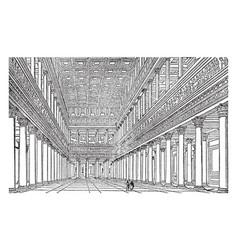 Interior of trajans bascilica as restored by vector